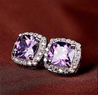ingrosso orecchini di diamanti di alta qualità-L'alta qualità argento diamante S925 Sterling Orecchini con nozze pietra di Zircon delle donne degli uomini di compleanno di lusso regalo Bigiotteria