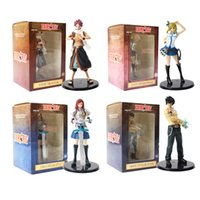Wholesale lucy figure resale online - 4pcs Fairy Tail Figures Lucy Heartfilia Natsu Dragneel Gray Grey Erza Scarlet Anime Collectible Model Toys T190925