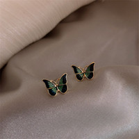 Wholesale dresses for korea resale online - Cute Sweet Butterfly Stainless Steel Earrings for Woman Korea Simple New Statement Earrings Dress Accessories New Jewelry Gift
