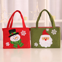 Wholesale product bags for sale - Group buy Elk Snowman Santa Claus Gift Bags Red Cartoon Bag Home Christmas Decoration Products Party Favour qy UU