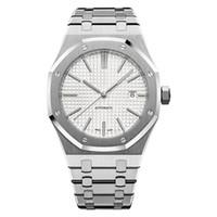 роскошные наручные часы оптовых-роскошные мужские автоматические механические часы классический стиль 42мм полный ремешок из нержавеющей стали наручные часы высшего качества сапфир супер светящийся