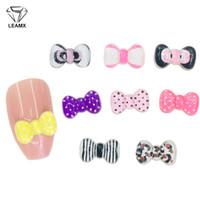 Wholesale nails art black bow resale online - LEAMX bag Resin Bow Nails Art Decorations D Acrylic Bow Tie Design Nail Art Decor Nails Charms Girls Finger Jewelry L484