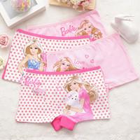boxer niños al por mayor-4 unids / set calzoncillos de algodón boxer niñas ropa interior princesa niños niños bebé bragas al por mayor
