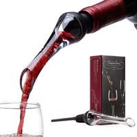 caixa de presente de vinho preta venda por atacado-Vinho Aerador Pourer Vinho Decanter Vinho Pourware Compliant com a Família Recolhimentos Partes Cocktails etc Gift Box Embalagem Preto