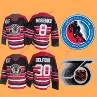 8 Bill Mosienko Jersey 30 Ed Belfour With Hall Of Fame Chicago Blackhawks  75th Jerseys Ice Hockey 803a83021