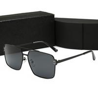 gafas aviador para hombre al por mayor-Diseñador de lujo gafas de sol de gran tamaño Calidad Moda Aviadores Hombres Famosos Hombres Construir Gafas de sol de metal Gafas UV polarizadas con caja PLD5