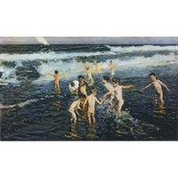 Wholesale art panels for sale online - Joaquin Sorolla y Bastida paintings for sale The bath childern canvas modern Landscapes art hand painted