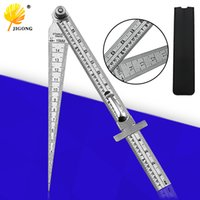 DishyKooker T-160 Ruler Hole Scribing Gauge Aluminum Crossed Feet Woodworking Crossed-Out Measuring Tool T-260 Hole Ruler