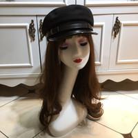 chapéus de feltro para senhoras venda por atacado-Primavera chapéu de pato mulheres boné de beisebol retro chapéus de alta qualidade newsboy caps chapéu sentiu inverno boinas pretas smart_k