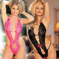 Wholesale sexy lace aprons resale online - Foreign trade in Europe and America sexy lingerie sexy lace apron three piece suit to open the file on behalf of missing milk