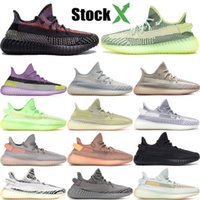 Wholesale clay shoes resale online - Stockx yecheil yeshaya black static M reflective kanye west v2 running shoes citrin cloud white synth clay zebra men women trainer sneakers
