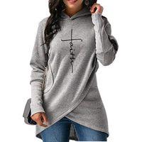 weißes hoodie rotes futter großhandel-Herbst Hoodies Frauen Sweatshirts Langarm Stickerei Kleidung Warme Kapuzenpullover Tops Casual Sweatshirt Plus Größe Hoodie