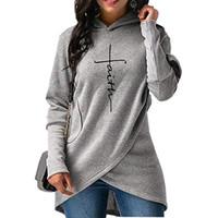 plus kapuzen für frauen großhandel-Herbst Hoodies Frauen Sweatshirts Langarm Stickerei Kleidung Warme Kapuzenpullover Tops Casual Sweatshirt Plus Größe Hoodie