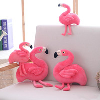 Wholesale bird games kids resale online - Creative Simulation Flamingo Plush Toys and Pillow Cute stuffed animals Bird Stuffed Doll Cushion Gift kids toys