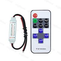 Wholesale remote dimmer color resale online - LED Strip Controller Mini DC5V V Keysr Dimmer A Wireless RF Remote to Control Single Color Strip Lighting led strip DHL