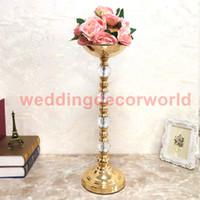 ingrosso vasi alti-Vasi in metallo Vasi alti in acrilico da tavolo Centrotavola per matrimoni Evento Road Lead Flower Stand Rack per eventi Decorazione decor00067