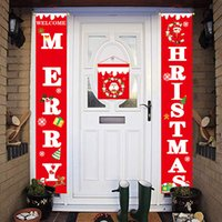Wholesale porch decor for sale - Group buy 3pcs set Christmas Decorations for Home Long Wall Hanging Xmas Happy New Year Christmas Letter Porch Banners Party Decor