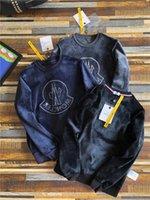 klasik erkek ceketi toptan satış-19fw Lüks Tasarım Mengkou Kapşonlu Erkekler Fırçalı Hoody MC Klasik Ceket Casual atlama Tişörtü Spor Streetwear Açık Giyim