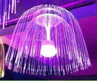cordas de luz óptica venda por atacado-80CM.60CM Fibra LED colorido Optic Jellyfish Fibra Óptica do casamento do feriado Fada Luz Cordas Garland Outdoor de Natal Light Chandelier