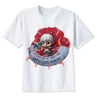 güzel japon erkekler toptan satış-TOKYO GHOUL t gömlek Erkekler japon anime Tişört erkek KANEKI KEN baskı t-shirt güzel t-shirt