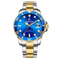 Wholesale gold pointer for sale - Group buy CHENXI Business Automatic Movement Wristwatch Luminous Pointer High Quality Gold Blue Green Bezel Analog Dial Stainless Steel Buckle