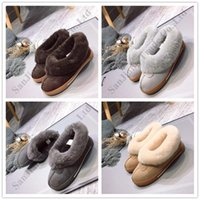Wholesale winter home boots for sale - Group buy Luxury Women UG Snow Boot Classic Australia Sheepskin Wool one Low Ankle Boots Warm Ladle Shoes Cowhide Fur Boots Winter Home Shoe C120303