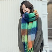 Wholesale yarn toys for sale - Group buy Women s Scarf Autumn and Winter Classic Circle Yarn Coloring England Style Colored Plaid Large Shawl Scarf