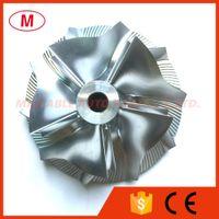 ingrosso girante del compressore del turbocompressore-TD05H 51.20 / 69.10mm 5 + 5 lame Reverse Turbo billet Compressor wheel / Alluminio 2618 / Turbocompressore Milling compressor wheel for Mitsubish