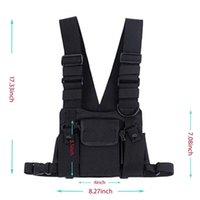 ingrosso borse radio-Abbree Radio Chest Harness Chest Front Pack Pouch Holster Vest Rig Bag per Walkie Talkie Motorola Baofeng TYT Wouxun