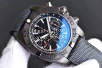 relojes cronomat al por mayor-Reloj de hombre superior Cronógrafo automático para hombre Relojes Eta 7750 Hombres Fecha Negro Carbon Chronomat Sport Valjoux Gf 44mm Relojes de pulsera de fábrica