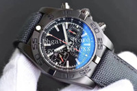 Wholesale chronomat automatic watch for sale - Group buy Top Men s Watch Mens Automatic Chronograph Watches Eta Men Date Black Carbon Chronomat Sport Valjoux Gf mm Factory Wristwatches