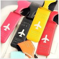 ingrosso valigia modello-6styles Valigia Etichette Stampato in aereo Modello inglese Lettera Etichetta per bagagli Valigette da viaggio Accessori per carte Regalo di favore creativo per feste FFA2773