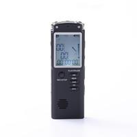 reprodução do gravador de voz venda por atacado-Reprodução de música portátil de 8 GB LCD mini-LINE-IN Telefone Gravação de dispositivos de gravação de áudio VOX Audio Sound Proof Gravador de Voz Digital