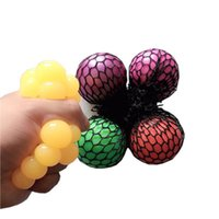 Wholesale squeeze balls kids for sale - Group buy Decompression grape ball Anti Stress Mesh Latex Colorful Relief Ball Stress Autism Mood Relief Hand Wrist CM Squeeze Toy For Kid toys