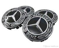 tampas do centro de 75mm venda por atacado-4pcs Mercedes Car Caso Benz Caps tampa da roda Emblem Hub Centro de 75MM