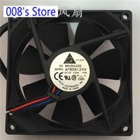 radiador 12v ventiladores al por mayor-Nuevo radiador CPU Cooler Fan para Server Inverter PC AFB0912VH 90mm 92 * 92 * 25MM 3800RPM 12V 0.6A 3 Wire Cooling 67.80CFM