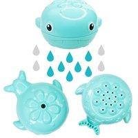 ducha de agua de lluvia al por mayor-Agua recién nacida Lluvia de ballenas Juguetes de baño de agua Bebé lindo Bebé de dibujos animados Ducha de baño Juguetes Agua para niños Niños