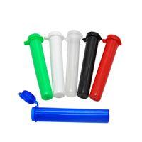 rouler la fiole achat en gros de-Tube en plastique acrylique de 94MM flacon étanche étanche à l'air hermétique aux odeurs preuve d'odeur scellant boîte de rangement pour conteneur d'herbes tube de roulement de papier tube boîte à pilules