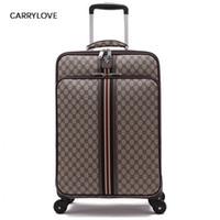 maleta de equipaje de viaje al por mayor-CARRYLOVE fashion Noble clásico de alta calidad 16/20/22/24 Pulgadas PVC Rolling Luggage Spinner marca comercial Maleta de viaje