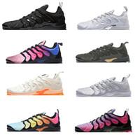 Wholesale whites sports for sale - Group buy 2019 TN Running Shoes Sesame Designer Men Women Sneakers Black White Oreo Bred Fashion Sports Runners Available