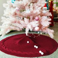 ingrosso ornamenti di lusso di natale-Partito di lusso fai da te di Natale albero di Natale gonne Decor Ornamenti Soggiorno Bianco Faux Fur Festival feste Home Decor 120CM