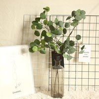 INS simulation Ginkgo Green leaves fake plants decoration jungle accessories wedding arrangements artificial green wall
