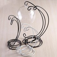 Iron Stand Rack Ornament Display Stand for Hanging Glass Globe Air Plant Terrarium Witch Ball Holder Wedding Party Home decor LXL739-1