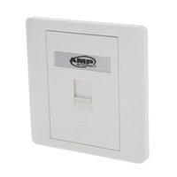 Wholesale ethernet telephone resale online - Face Wall Plate RJ45 Network Ethernet Socket RJ11 Telephone Jack Single Gang Port