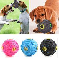 кошачий мяч оптовых-Собака игрушки Pet Puppy звук мяч утечки пищи мяч звук игрушка мяч Pet собака кошка скрипучий жует щенок пищалка звук Зоотовары играть