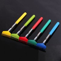 Wholesale portable back scratcher resale online - Stainless Steel Back Scratcher Telescopic Portable Adjustable Size Extend Itch Scratch Tool With Soft Grip RRA3081