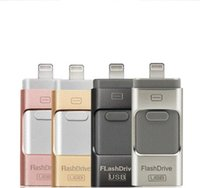 otg usb flash sürücüler toptan satış-Yeni USB flash sürücü için iphoneU Disk 3 in 1 Kalem Sürücü USB Flash Sürücü U Disk Memory Stick Apple iPhone 5 5 S 6 6 s artı iPad OTG Pendrive