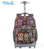 Wholesale 16 backpacks resale online - 16 Inch Wheeled Backpack Kids School Backpack On Wheels Trolley Backpacks Bags For Teenagers Children School Rolling Backpack Y19051701