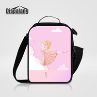 Wholesale stylish bags for girls resale online - Women Fashion Lunch Bags For Traveling Ballet Yoga Printing Girls Stylish Cooler Bag For School Thermal Insulated Ice Sack
