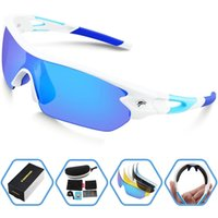Wholesale cycling sunglasses interchangeable lenses for sale - Group buy 2018 Polarized Sports Sunglasses With Interchangeable Lens for Men Women Cycling Running Driving Fishing Golf Baseball